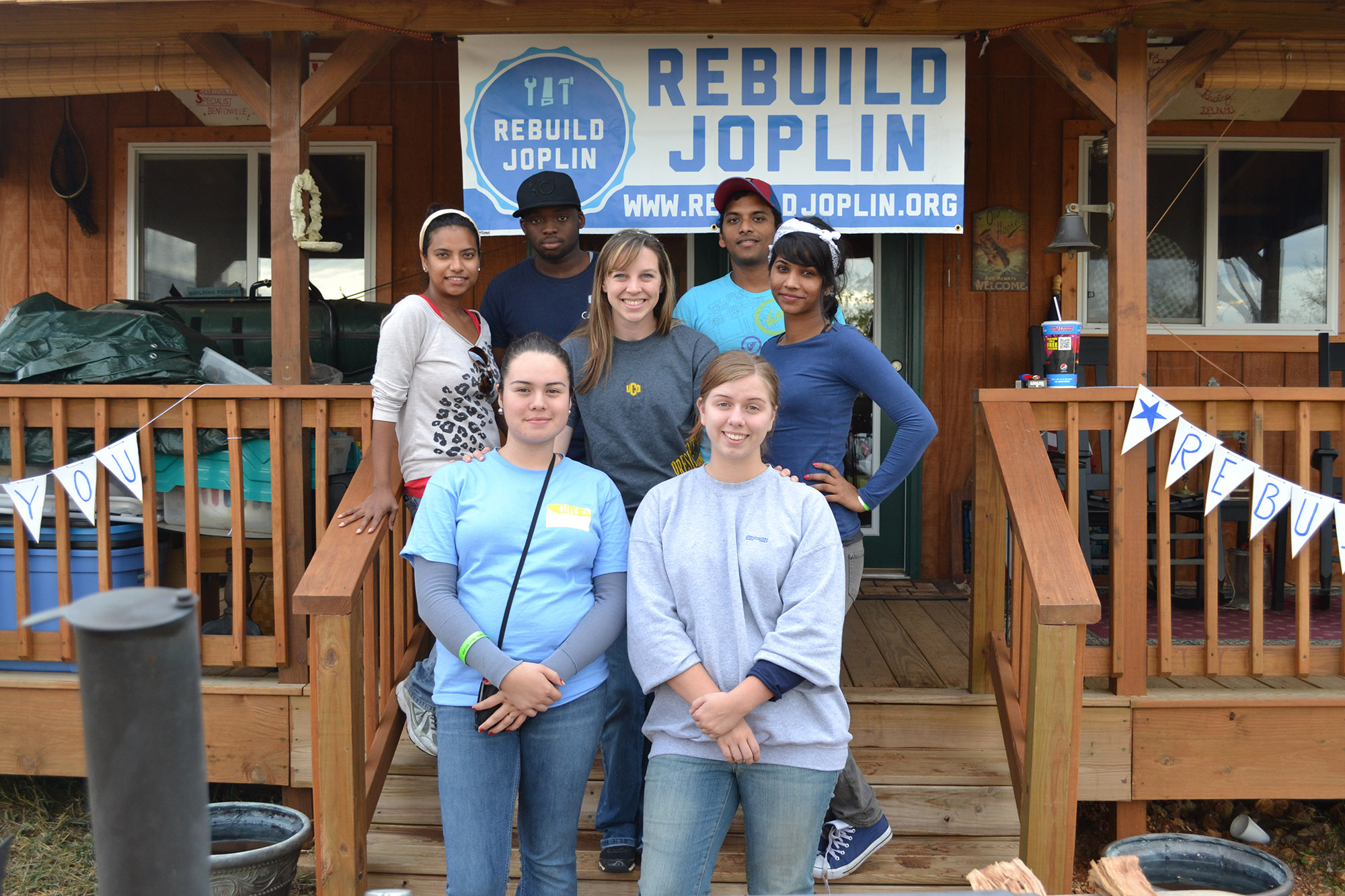 University of Central Oklahoma students rebuilt homes destroyed by the May 22, 2011 tornado in Joplin, Mo. over fall break with Rebuild Joplin, a non-profit agency that provides long-term recovery and rebuilding systems.