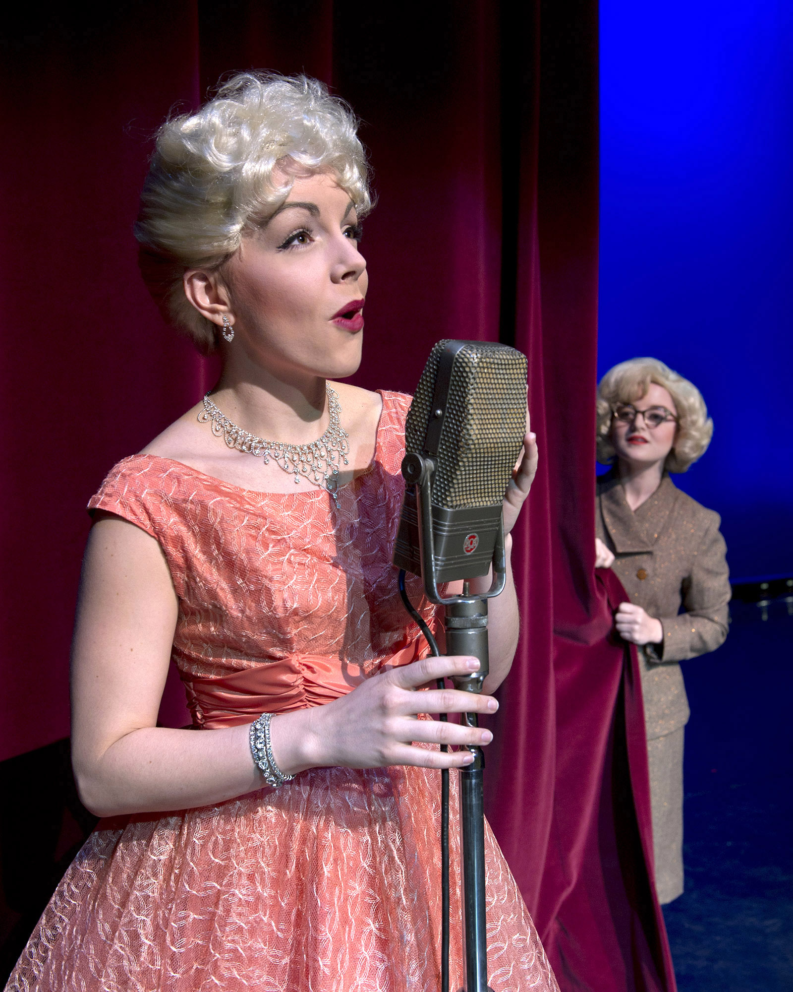 "Central graduates Lindsie VanWinkle will play ""Patti Page"" (left) and Haley Jane Pierce will play ""Clara Ann Fowler."""