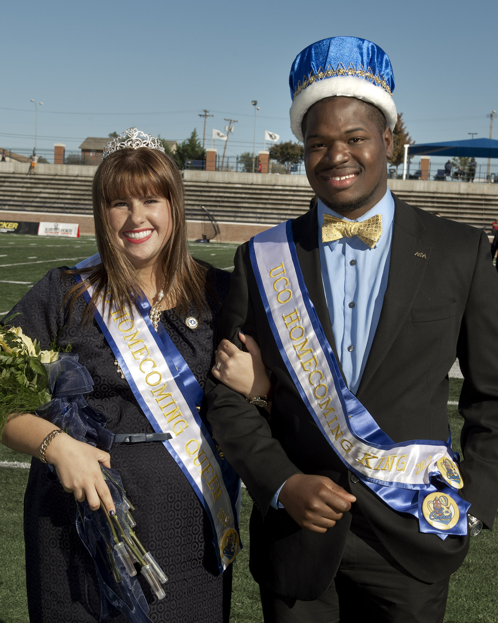 University of Central Oklahoma seniors Vincent Burr and Jillian Goodman were named the 2013 Homecoming King and Queen during Central's Homecoming football game on Nov. 2, 2013.