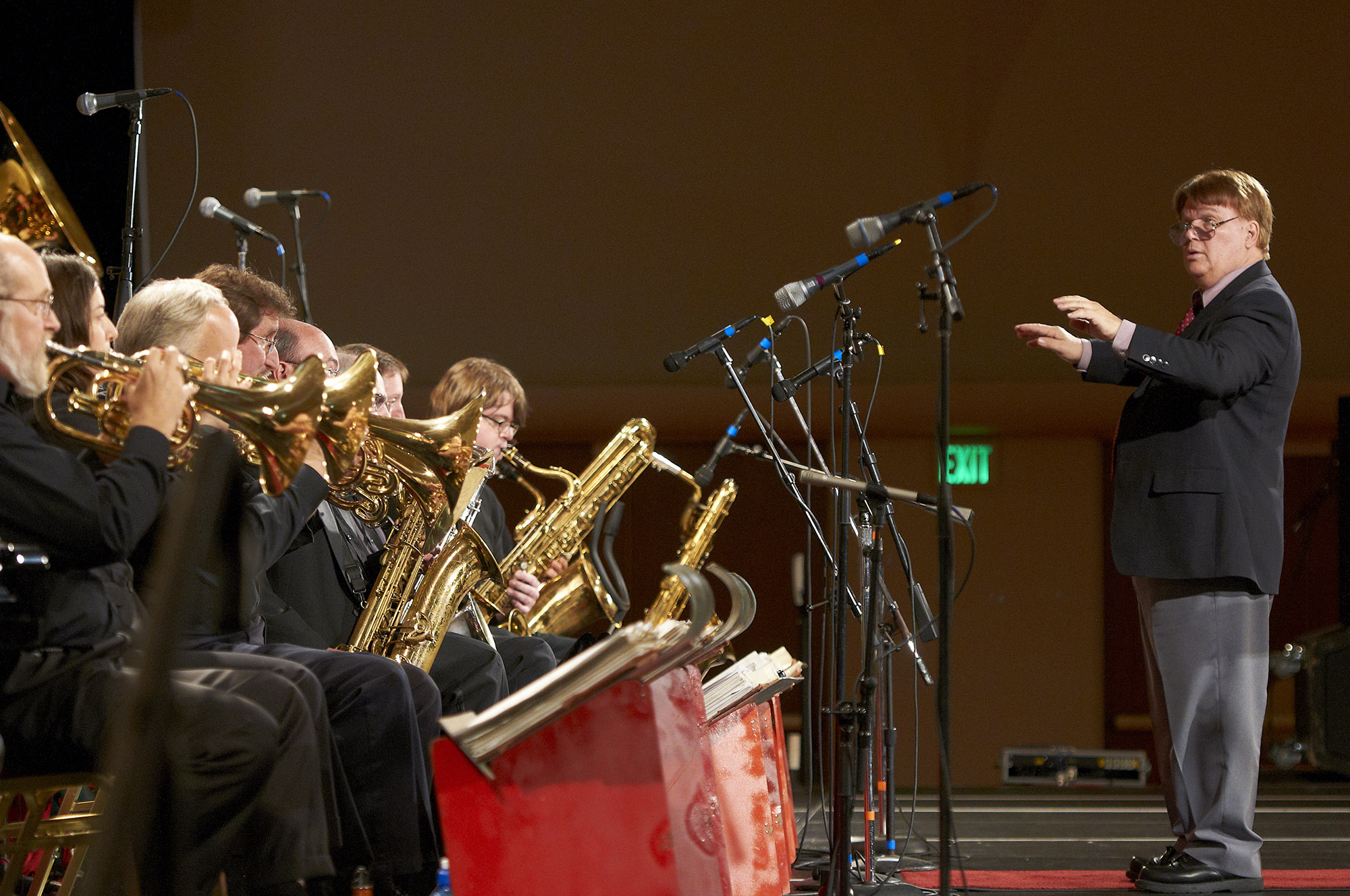 Joel Kaye (right) will conduct the Edmond Jazz Orchestra at two special Stan Kenton tribute performances at the UCO Jazz Lab Jan. 24 and 25.