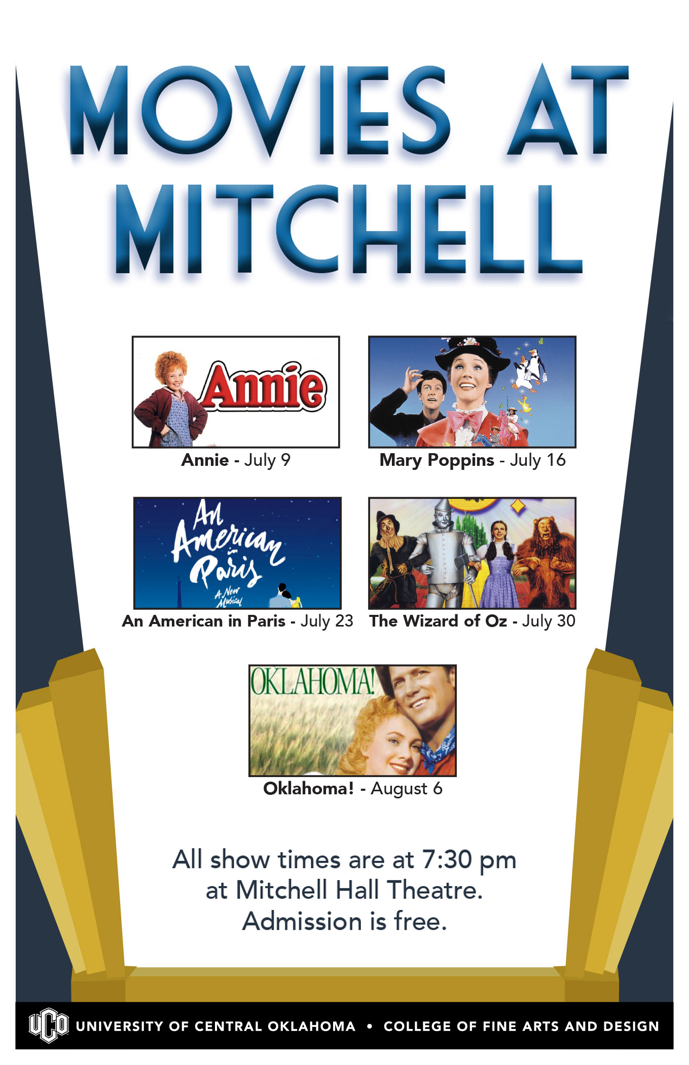 UCO Press Release: UCO's 'Movies@Mitchell' Offers Free