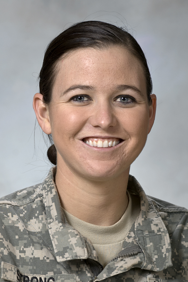 University of Central Oklahoma ROTC cadet, battalion commander and senior nursing student Casey Strong has been named as one of five recipients of the U.S. Army's F. Edward Hebert Health Services Professional Scholarship for students pursuing careers as nurse practitioners.