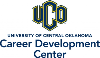 Official logo for the UCO Career Development Center on a white background